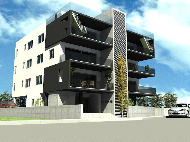 2 Bedrooms Flats At Plati Aglantzias Under Construction Modern Design Jacuzzi Electric Heating 3 Floors Per Floor Only 3rd Apartments With